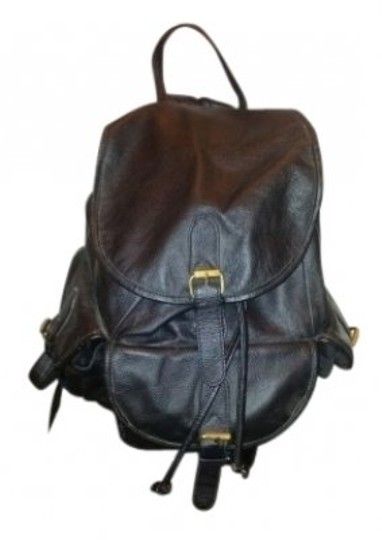 Preload https://item3.tradesy.com/images/drawstring-and-snap-close-and-pockets-black-genuine-leather-fabric-lined-interior-backpack-30522-0-0.jpg?width=440&height=440