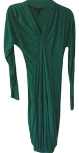 BCBGMAXAZRIA short dress Green Daily Fun Cotton on Tradesy