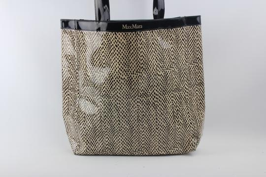 Max Mara Tote in Cream, Black