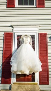 Casablanca Ivory Couture Bridal Wedding Dress Size 10 (M)