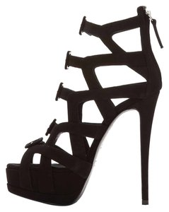 Giuseppe Zanotti Amazing Sandals Caged Tall Summer Black Pumps
