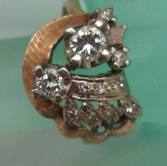 Other Estate 14kt Yellow Gold .69ct Old European cut Diamonds Ring, 1930s