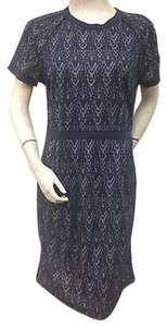 Tulle Navy Print Sheath Style T60373 Dress