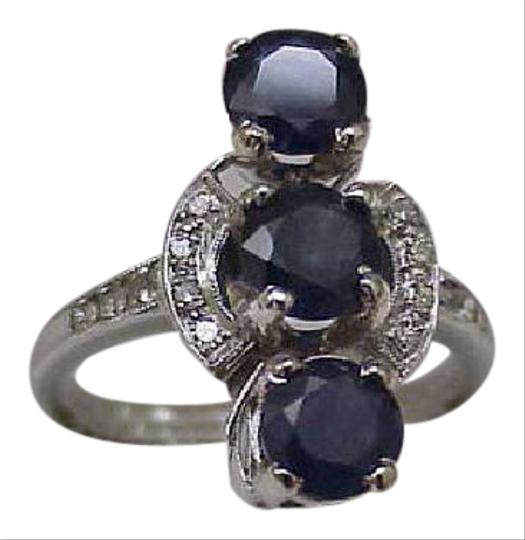 Other Antique Platinum Art Deco Ring 3.50carats: sapphire and diamonds