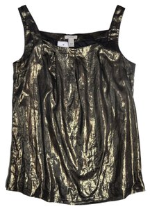 J.Crew Lame Top Dark Gold Metallic