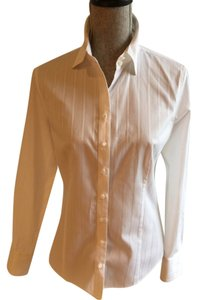 Ann Taylor Size 8 Classic Medium Button Down Shirt White