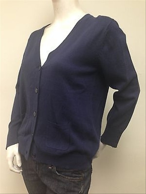 Other Jenny Petite 100 Cotton V Neck Button Front Cardigan Sweater