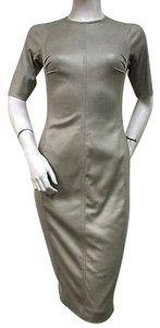 Byron Lars Beauty Mark Khaki Sheath Microfiber Bl2963 Dress