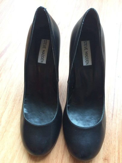 Steve Madden Leather Heel black Formal
