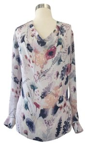 Haute Hippie Top Floral Purple