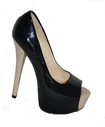 Chinese Laundry Black/Cream Pumps