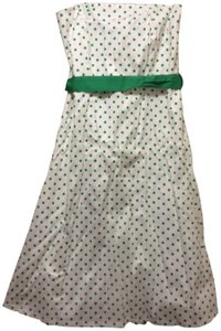 Charlotte Russe short dress white with green polka dots on Tradesy