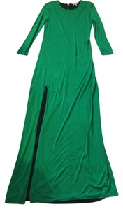 Green Maxi Dress by Juicy Couture Maxi Open Split Style Long Sleeve
