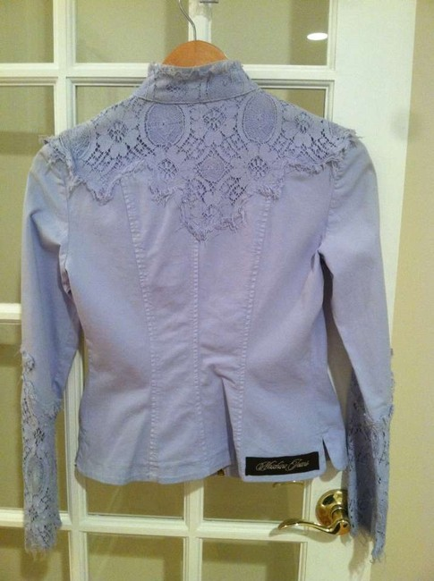 Moschino Jeans Blazer Lace Frayed Summer Blue Unique Jacket