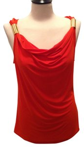 Jon & Anna Draped Top Orange