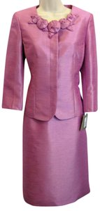 Kasper Evening Kasper Evening Skirt Suit 2 Pink Shimmer Raspberry NWT NEW Formal Career