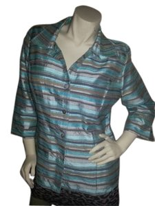 Austin Reed Button Down Shirt Multi color lite blues, grays, tope