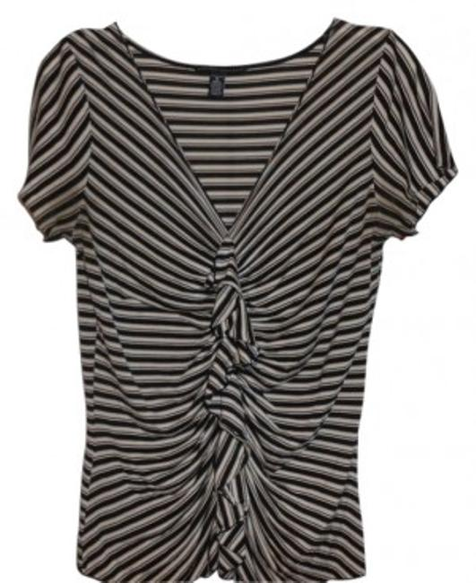 Preload https://item5.tradesy.com/images/banana-republic-brown-strips-ruffle-front-detailing-tee-shirt-size-8-m-30609-0-0.jpg?width=400&height=650