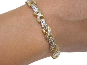 $7500 Ladies 10k 2-tone Gold Tennis 2.8 cttw Diamond Bracelet, Appraisal included !