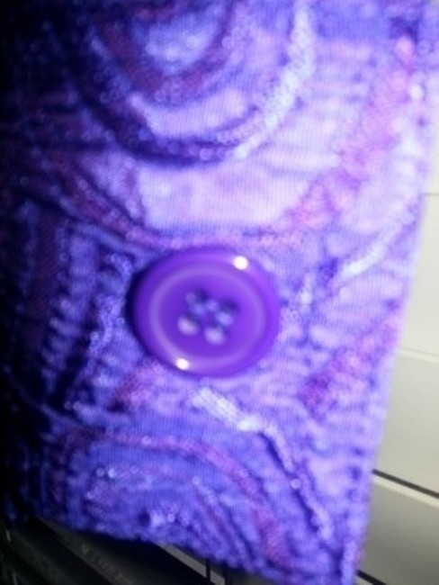 Other Broocade Longsleeve Swirls Button Down Shirt Purple Jacquared