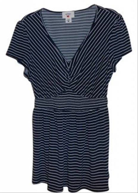 Two Hearts Maternity Two Hearts stripped short sleeve tunic
