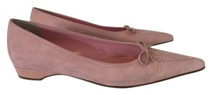 Isaac Mizrahi Pointed Toe Suede Pink Flats