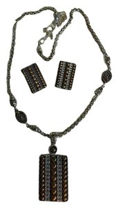 unknown Pendant necklace & earrings
