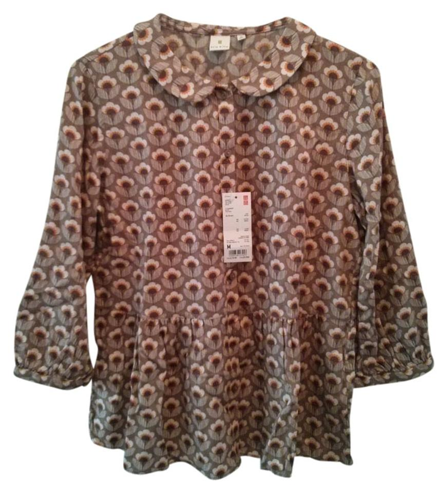 b806dfeabd5272 Orla Kiely Multicolor For Uniqlo Blouse Size 10 (M) - Tradesy