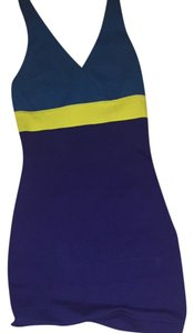 Express Top Navy-teal-yellow