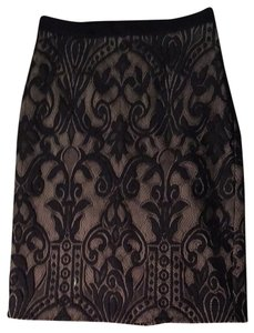Eva Franco Lace Victorian Lace Skirt Black And Nude