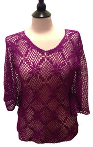 Other Crochet Batwing Sleeve Tunic