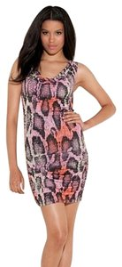 Guess Party Multicolored Cowl Dress
