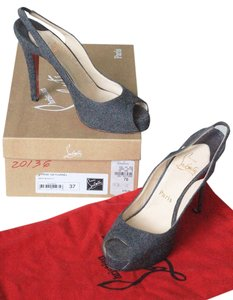 Christian Louboutin Designer Party High Heels Loubs flannel grey Sandals