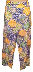 Lilly Pulitzer Capris Yellow/green/blue/white
