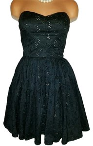 Betsey Johnson Flowers Black Dress
