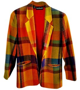 Anne Klein Wool plaid Blazer