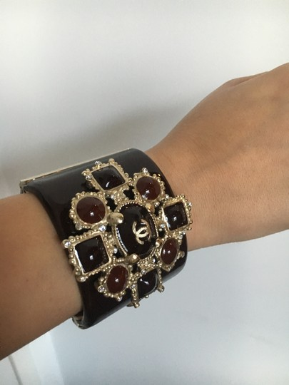Chanel Stunning Chanel Gripoix Embellished Cuff Bracelet