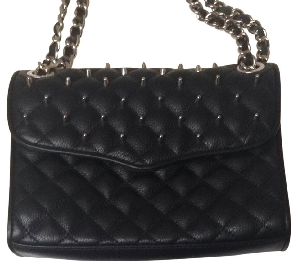 Rebecca Minkoff Studded Quilted Affair Crossbody Black Leather