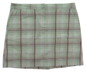 Izod Skort Green & Brown Plaid