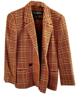 Escada European Wool plaid Blazer