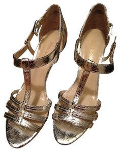Enzo Angiolini Metallic Night Out Formal Date Night Silver Sandals