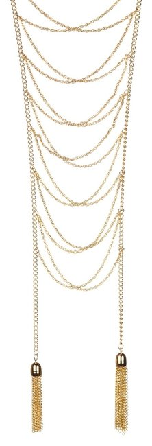 Item - Itthica Chain Link Woven Tassel Necklace