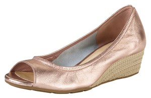 Cole Haan Rose Gold Metal Wedges