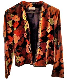 California Concepts Velvet Embellished flower Blazer