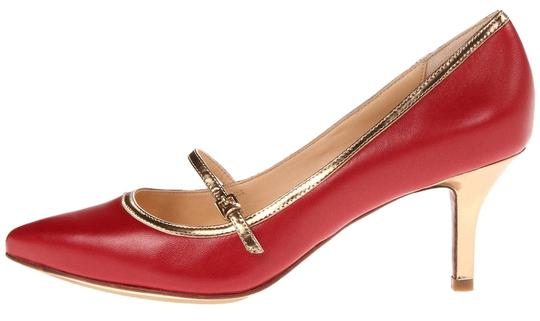 Cole Haan Velvet red/gold Pumps