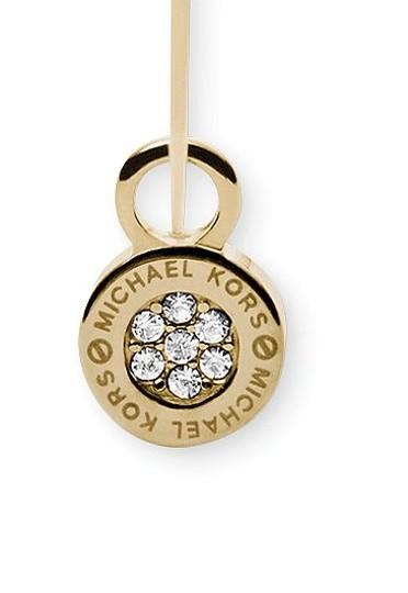 Michael Kors ON SALE-w/ BONUS-Whisper Hoop Earrings with Removable Pave Charms