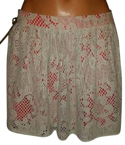 Buffalo David Bitton Knitted Coral Nude Mini Mini Skirt Nude/Coral