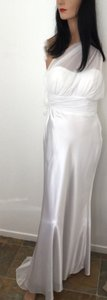 Bari Jay Small Train * One Shoulder Bridesmaid's Or Bride's Wedding Dress