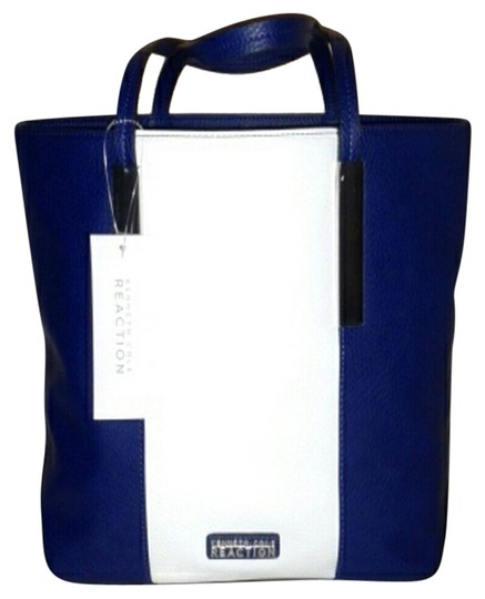 Preload https://item4.tradesy.com/images/kenneth-cole-navy-and-white-tote-3064648-0-0.jpg?width=440&height=440
