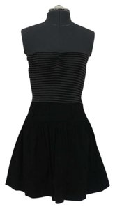 Other short dress Black/Grey Striped Girly Knit Grey Stretch Black Pockets on Tradesy